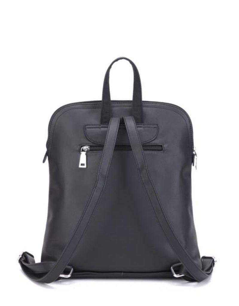 Backpack Sasha Tapa Tiare Black Embossed