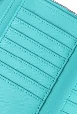 Happy Wahine Wallet Allison Monstera Blue