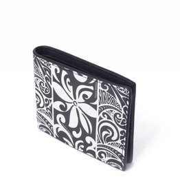Happy Wahine Wallet Alex Tapa Tiare Black