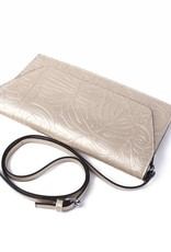 Happy Wahine Clutch Victoria Monstera Gold Embossed