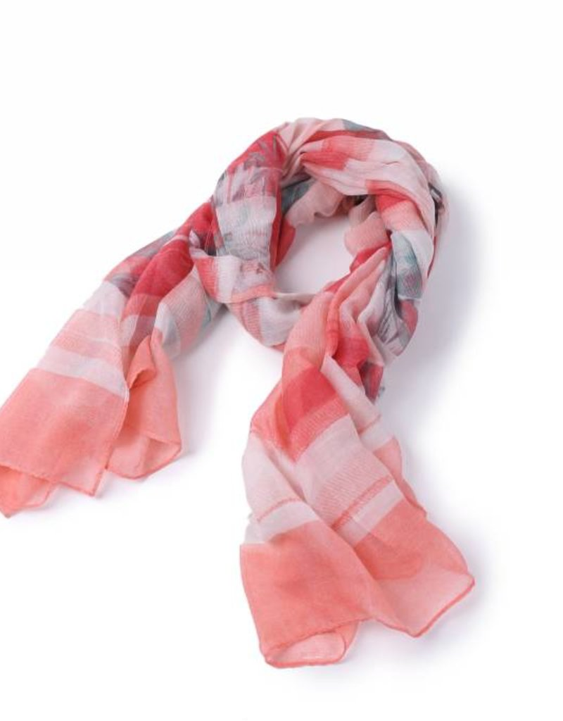 Happy Wahine Scarf Danielle Hibiscus Red