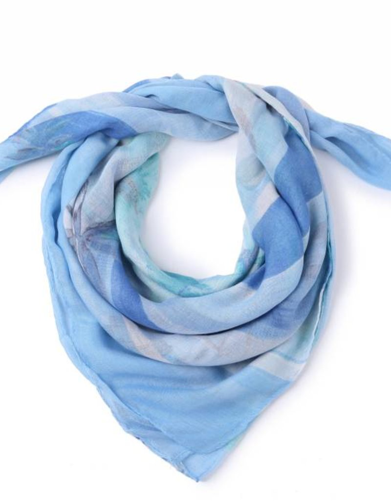 Happy Wahine Scarf Danielle Hibiscus Blue