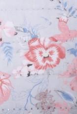 Happy Wahine Scarf Danielle Floral Grey
