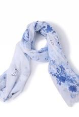 Happy Wahine Scarf Danielle Floral Blue