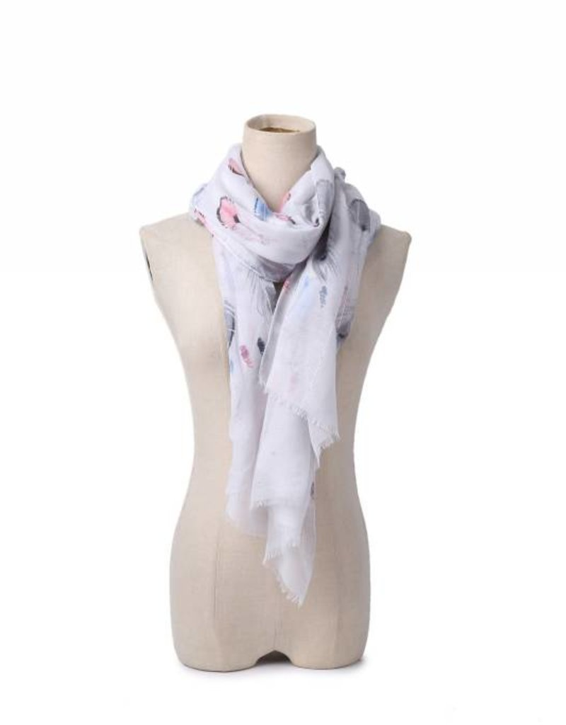 Everyday Hawaii Scarf Danielle Feathers Red