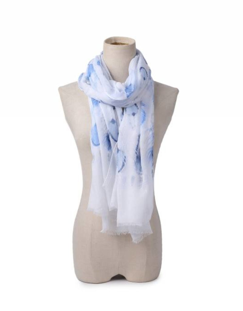 Happy Wahine Scarf Danielle Feathers Blue
