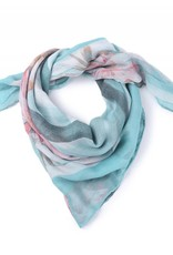 Happy Wahine Scarf Danielle Hibiscus Teal