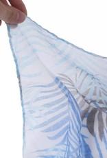 Happy Wahine Scarf Danielle Palmleaf Blue