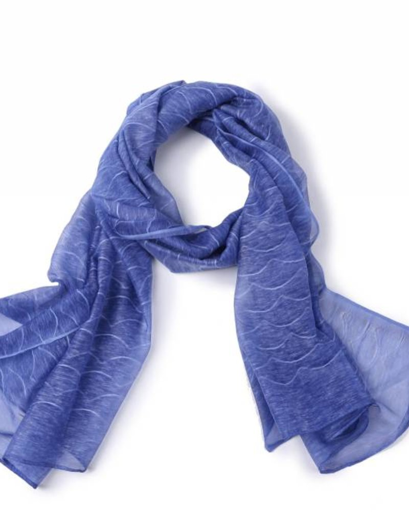 Happy Wahine Scarf Danielle Waves Blue
