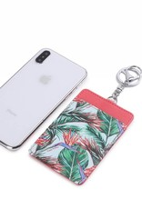 Happy Wahine Card Case April Bird of Paradise Blue