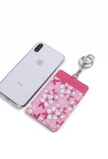 Happy Wahine Card Case April Hibiscus Pink