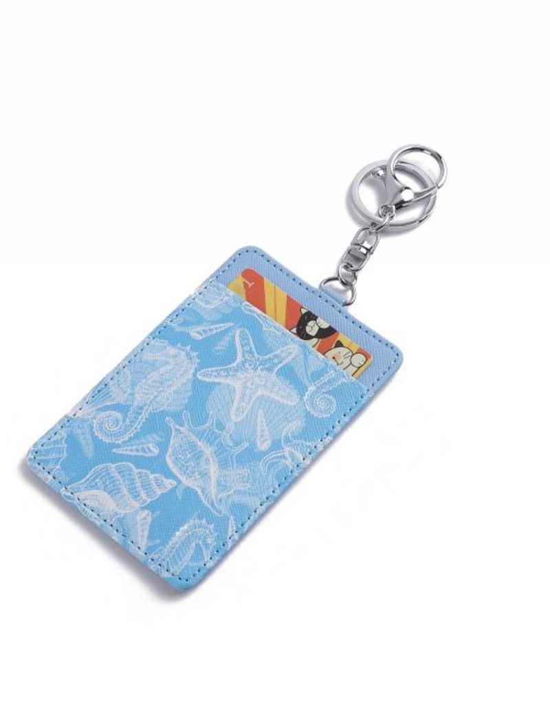 Card Case April Seahorse Shell Blue
