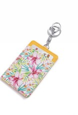 Happy Wahine Card Case April Watercolor Hibiscus Yellow