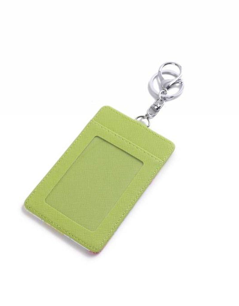 Card Case April Spring Pineapple Green
