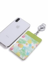 Happy Wahine Card Case April Spring Pineapple Green
