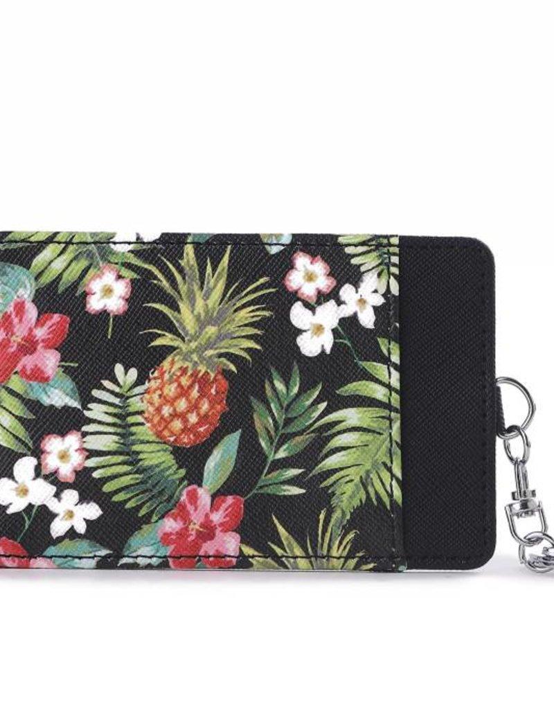 Card Case April Vintage Pineapple Black