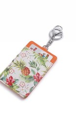 Happy Wahine Card Case April Vintage Pineapple Beige
