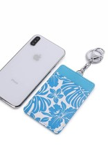 Card Case April Monstera Orchid Blue