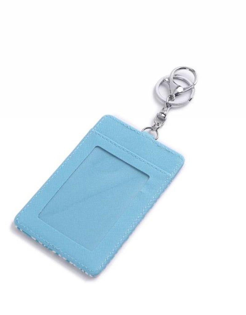 Card Case April Monstera Blue