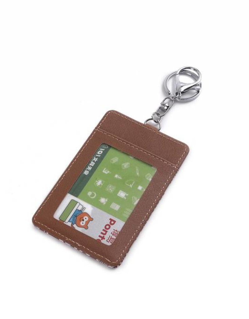 Happy Wahine Card Case April Tapa Tiare Brown