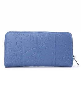 Happy Wahine Wallet Kaylee Tapa Tiare Blue Emb