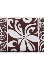 Happy Wahine Wallet Kaylee Tapa Tiare Brown