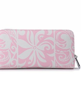 Happy Wahine Wallet Kaylee Tapa Tiare Light Pink