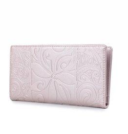 Happy Wahine Wallet Teyla Tapa Tiare Pink Met Emb