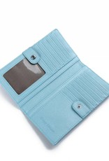 Wallet Teyla Monstera Light Blue Met Emb