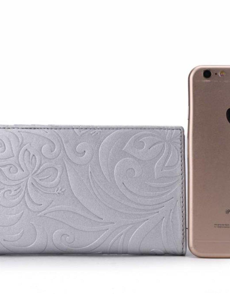 Wallet Teyla Hibiscus Silver Emb