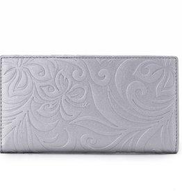 Happy Wahine Wallet Teyla Hibiscus Silver Emb
