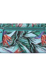 Happy Wahine Wallet Teyla Bird of Paradise Blue