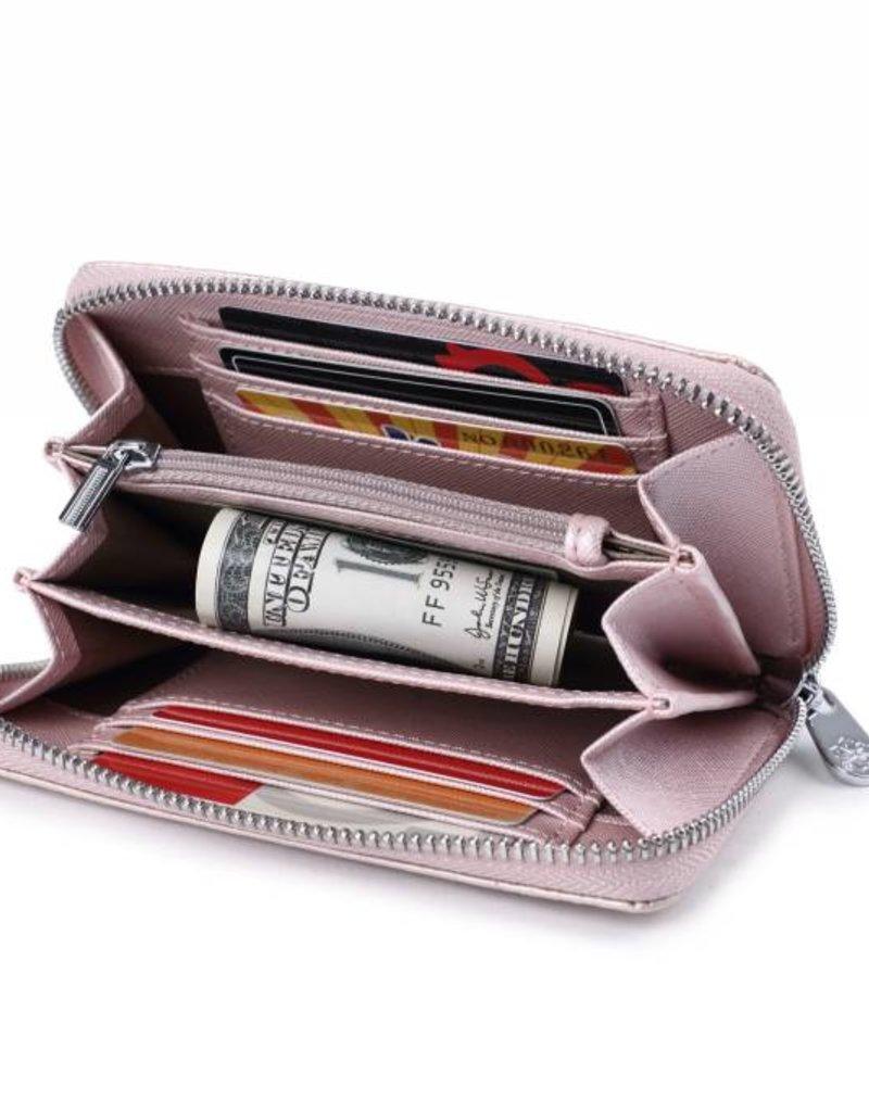Wallet Chloe Tapa Tiare Pink Met Emb