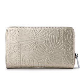 Happy Wahine Wallet Chloe Monstera Gold Met Emb
