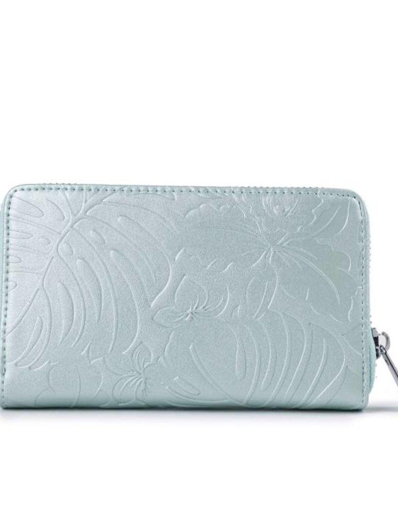 Wallet Chloe Monstera Orchid Green Met Emb