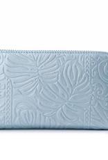 Wallet Chloe Monstera Light Blue Met Emb
