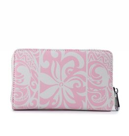 Happy Wahine Wallet Chloe Tapa Tiare Light Pink