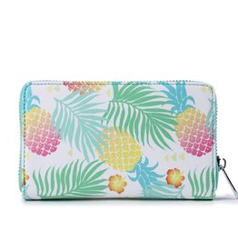 Happy Wahine Wallet Chloe Spring Pineapple Green