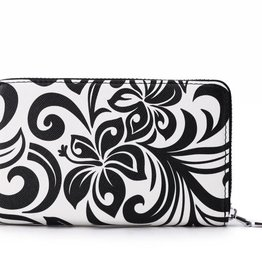 Happy Wahine Wallet Chloe Hibiscus Black