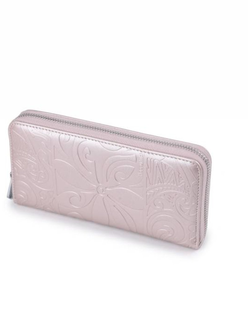 Wallet Kaylee Tapa Tiare Pink Met Emb