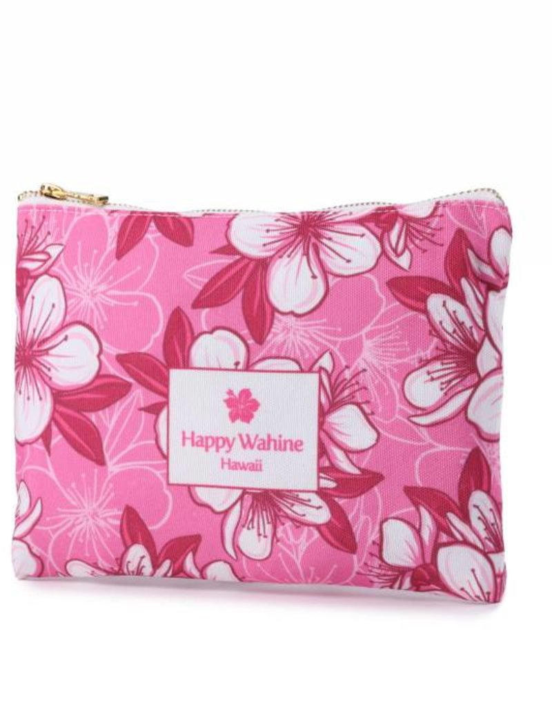 Everyday Hawaii Everyday HI Flat Pouch Hibscus Pink