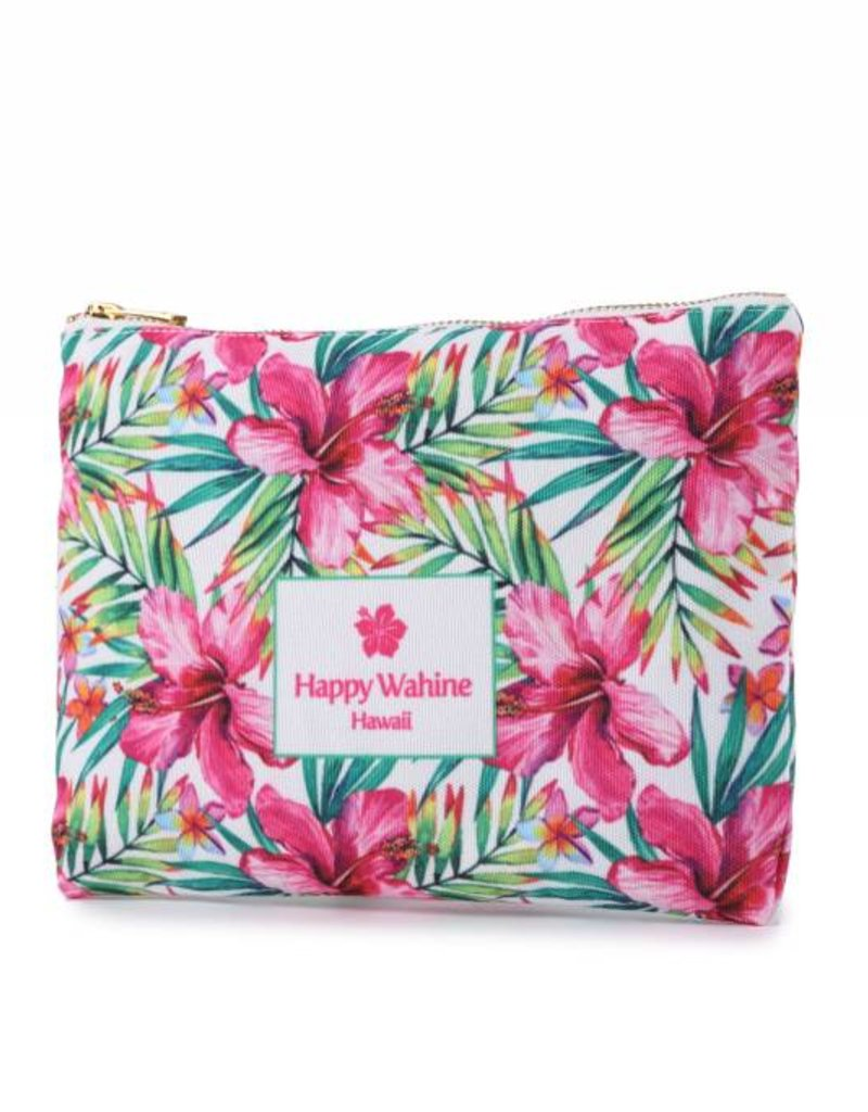 Everyday HI Flat Pouch Watercolor Hibiscus
