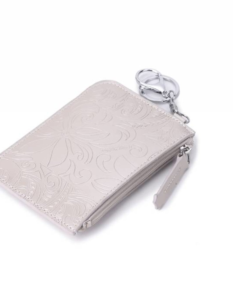 Happy Wahine Card Case May Tapa Tiare Silver