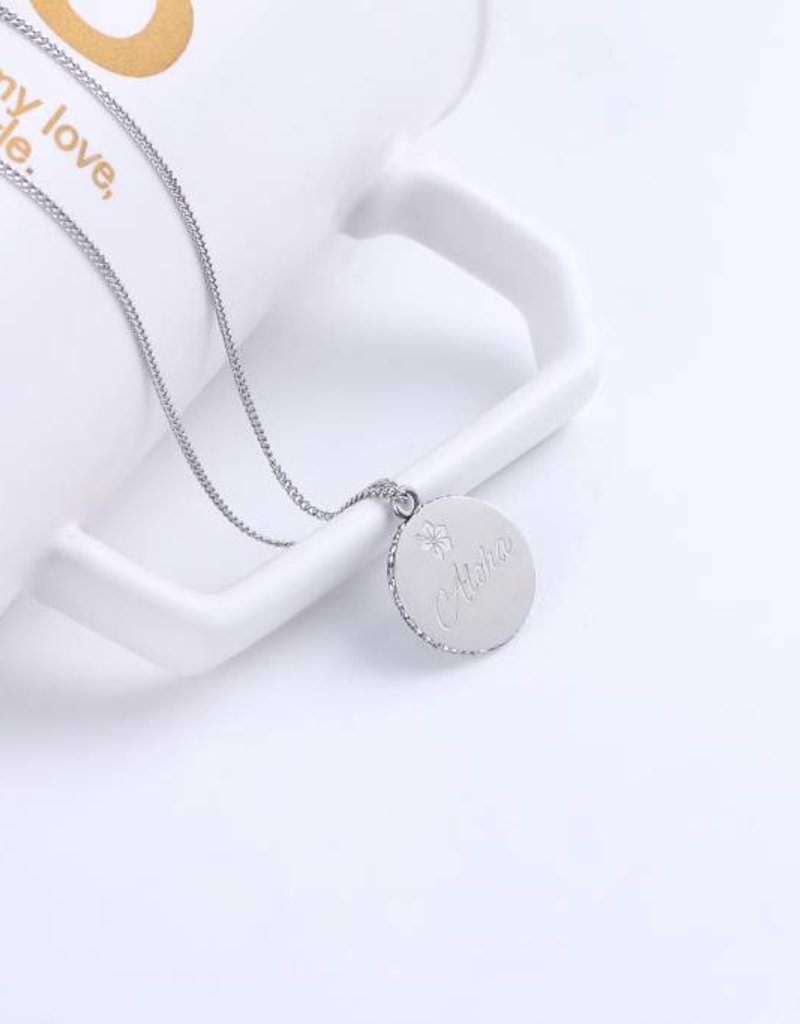 Necklace Aloha Wahine Silver 26in