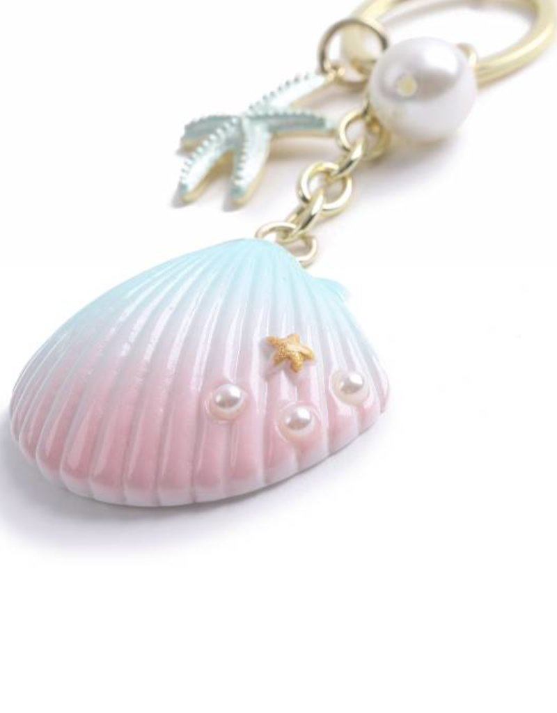 Happy Wahine Charm Davine Shell Blue-Pink