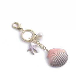 Everyday Hawaii Charm Davine Shell Pink-Silver