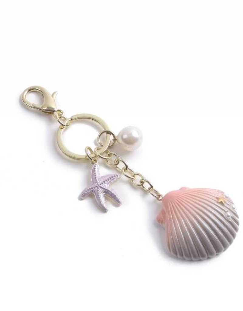 Happy Wahine Charm Davine Shell Pink-Silver