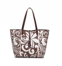 Rev Tote Nancy Tapa Tiare Brown Large