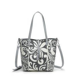 Rev Tote Nancy Tapa Tiare Grey Small