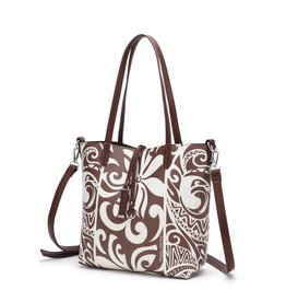 Rev Tote Nancy Tapa Tiare Brown Small
